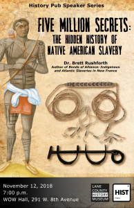 poster showing slavery era artifacts